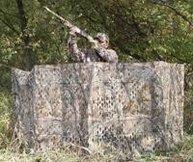 Camouflage netten, hutjes