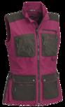 pinewood vest dames fuchsia/suede bruin