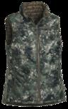 Pinewood vest omkeerbaar camo/groen  dames