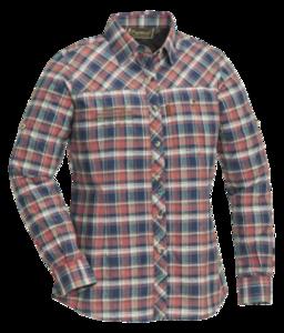 Pinewood Cumbria shirt ladies  Marine/koraal